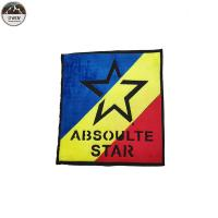 Quality Large Star Custom Made Embroidered Patches Chenille Material Blue / Red / Yellow for sale