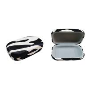 China Custom design PU contact lens case portable travel eyeglasses case on sale