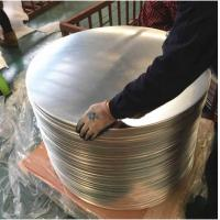 Quality Chemical / Food  Silver AA3003 Aluminum Disc , Aluminum Wafer CC  DC Material for sale