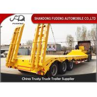 Quality Tri Axle Low Bed Semi Truck Trailer For Sale 60 Ton Heavy Machine Transport for sale