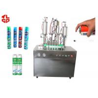 Buy cheap Auto Aerosol Can Filling Machine For Pesticide Insecticide , Aerosol Packaging Machine product