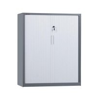 Quality Assemble Q235 Tambour Door Filing Cabinet With 2 Adjustable Shelves for sale