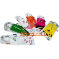 Buy Spouted flexible foldable water bag with carabiner for running, flexible printing and lami at wholesale prices