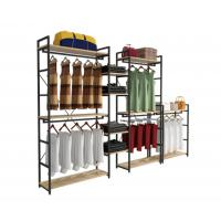 Buy cheap Modern Style Clothing Shop Display Racks Wall Mounted Clothing Rack For Shopping Mall from wholesalers