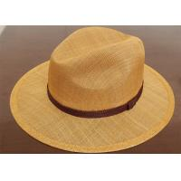 White Summer Church Mens Homburg Hats For Party , Mens Straw Hats