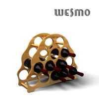 Quality OEM Customized Bamboo Red Wine Rack for Personalized Wine Accessories for sale