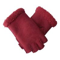 Quality Double Face Leather Fashion Gloves , Touch Screen Cute Women'S Mitten Gloves for sale
