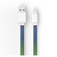 Quality Flat Braided 5V2.4A USB2.0 1M MFI Lightning Charging Cable for sale