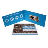 Quality Mailable Artwork Video Invitation Card A5 A4 Built With Video Player for sale