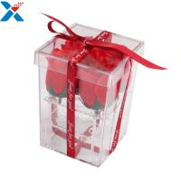 Quality Flower Packing Clear Acrylic Box Display Cases Organizer Rose Gift Box With Cover for sale
