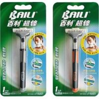 Quality Super stainless steel twin blade Razor pivoted head rubber handle for men for sale