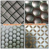 Quality 2015 canton fair round hole perforated metal sheet for sale