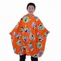 Kid's Styling Cape in Soft Polyester, Water-resistant/Stain-proof, Comes in Cartoon Pattern