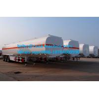 Quality Round Or Square Shape Chemical Liquid Tanker Trailer Three Axles 30,000L- 33,000L for sale