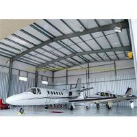 Quality Large Span Structurel Steel Airplane Hangars With Frame Use Life 50 Years for sale