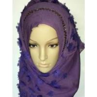 Quality Embroidery Silk Hijab Scarf (LC-C055) for sale