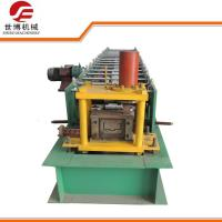 China Metal Purlin C Section Profile Roll Forming Machine With Hydraulic Cutting Device on sale