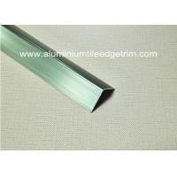 Quality Good Anodized Champagne Aluminium Angle Trim 20mm x 20mm x 2.5m for sale