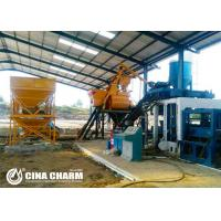 China Hydraulic Manual Interlocking Brick Making Machine For Riverside Bricks / Grassed Bricks Produce on sale