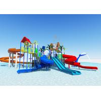 Quality Commercial Fiberglass Water Slides / Water Park Playground Equipment Easy Installation for sale