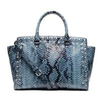 China Cow Leather Printed Snake Lady Genuine Leather Handbag With Studs  Rhinestone , Custom Make on sale