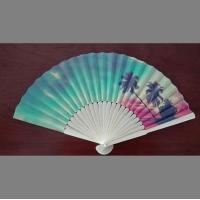 Quality custom design paper folding fan with bamboo frame , perfect item for decoration, wedding or promotion for sale