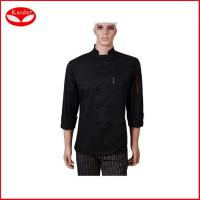 Quality Custom cotton Kitchen jacket fashion womens chef coat for restaurant for sale