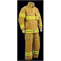 Quality Yellow Pbi Fireman Turnout Gear /  3 Layers Firefighter Bunker Gear for sale