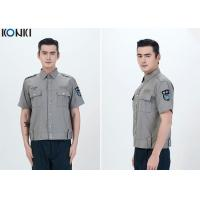 Durable Police And Security Guard Uniform Mens Shirts With Two Pockets