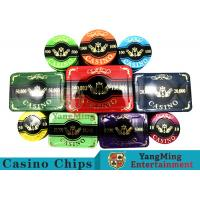 China New Design Bronzing Engraved Poker Set With Special Acrylic Materials on sale