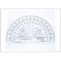 Quality Half Moon Shaped Military Protractor Field Kit 6 Inch Plastic Degree / Miles Pilgrim Uk Market for sale