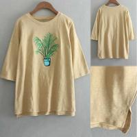 China China Manufacturer Women Embroidered Crew Neck T Shirt For Girl on sale