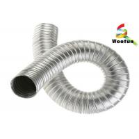 Buy cheap Non - Insulation Semi Rigid Aluminum Duct , Lightweight Heat Resistant Flexible Ducting product