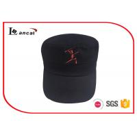 Quality 10856 cotton twill baseball caps hats / military cap with silver metal adjuster for sale