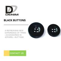 China Bulk Flat Black Sewing Buttons • 4 holes • Plaid blazer • Clothing Accessories on sale