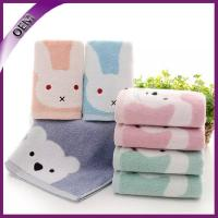 Quality high quality 100% cotton jacquard cartoon baby hand towel for sale