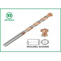 Quality Round Shank Metric Masonry Drill Bits Copper Plated L Flute For Concrete Brick for sale