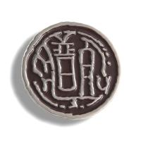 China Premium Classy Round School Pin Badges / Stamped Metal Badges 25mm Dia Size on sale