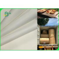 Quality 70gsm 120gsm Food Grade Uncoated White Bleached Kraft Paper FDA EU SGS Certified for sale