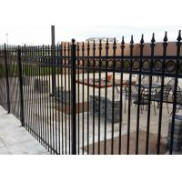 Buy cheap Steel 8 Foot x 5 Foot Black Wrought Iron Fencing Used For ForIndustrial Plants from wholesalers