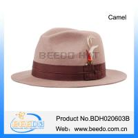 Quality Female wool jewish hat fedora with feather for sale