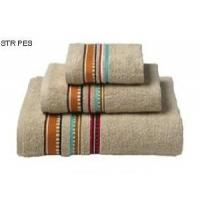 Quality Solid Bath Towel With Stripe Border for sale