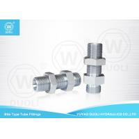 China Bite Type Hydraulic Bulkhead Fittings Adapter 6D Metric Thread 24 Degree H.T. on sale