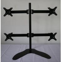 """Quality LCD dual Monitor Vertical Desk Stand Mount height adjustment for 4 Screens up to 27"""" for sale"""