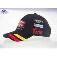 Classical Design V8 Supercards Black Custom Baseball Caps With Patch Embroidery