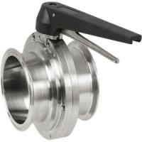 Buy cheap Sanitary clamp Butterfly Valve from wholesalers