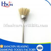 Cleaning & Filling Teeth Equipment Nail Dust Brush With Felt Material 2.35mm Shank