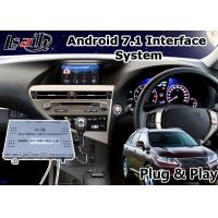 Quality Android 7.1 Video Interface for 2012-2015 Lexus RX 270 Mouse Control , GPS Navigation for sale