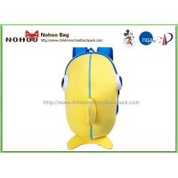 China Yellow Soft Neoprene Kids Book Bags For School / Cute Youth Backpacks on sale