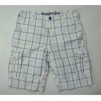 Quality Man Printed Check Cargo Shorts / Bermuda for sale